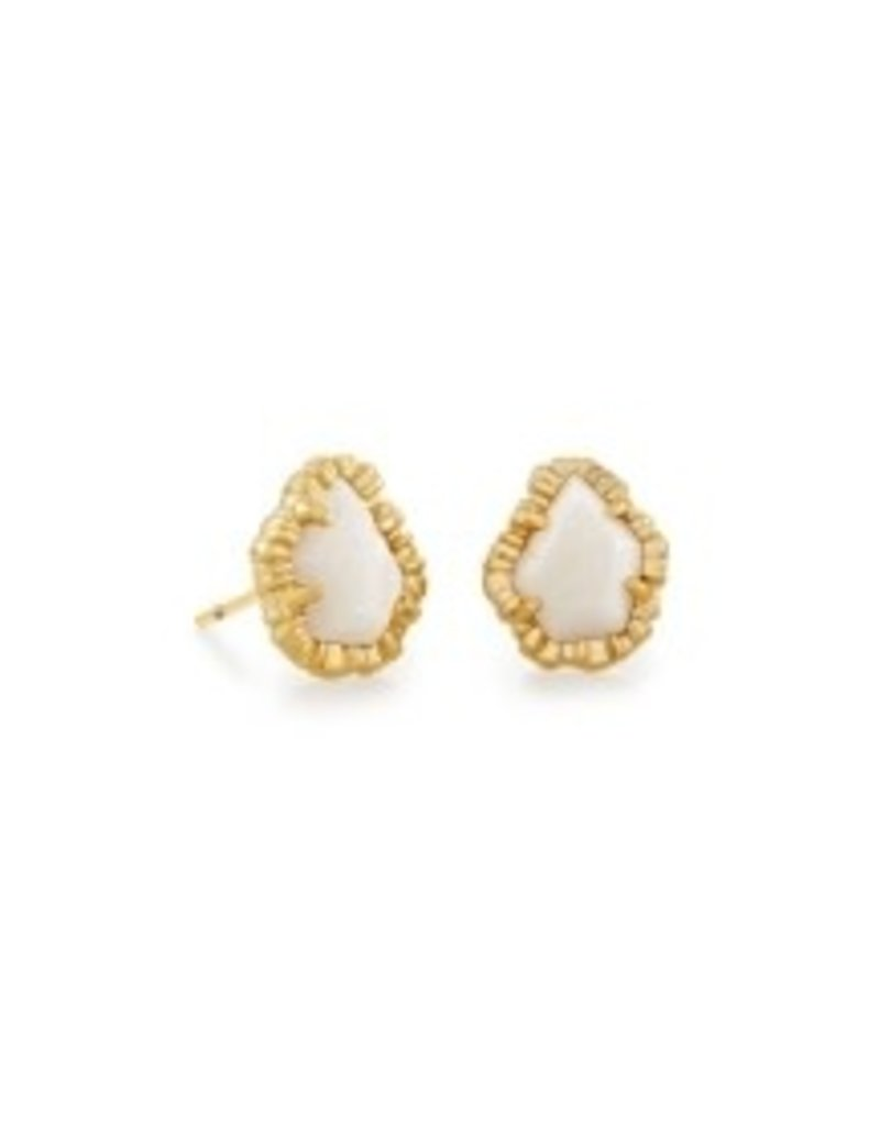 KENDRA SCOTT Tessa small stud earrings gold wite 4217718211