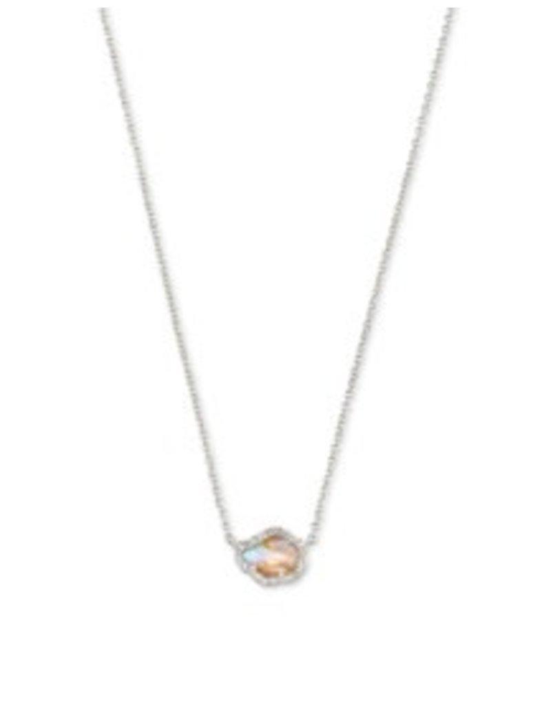 KENDRA SCOTT Tessa small sort pendant necklace rod iridescent abalone 842177182253