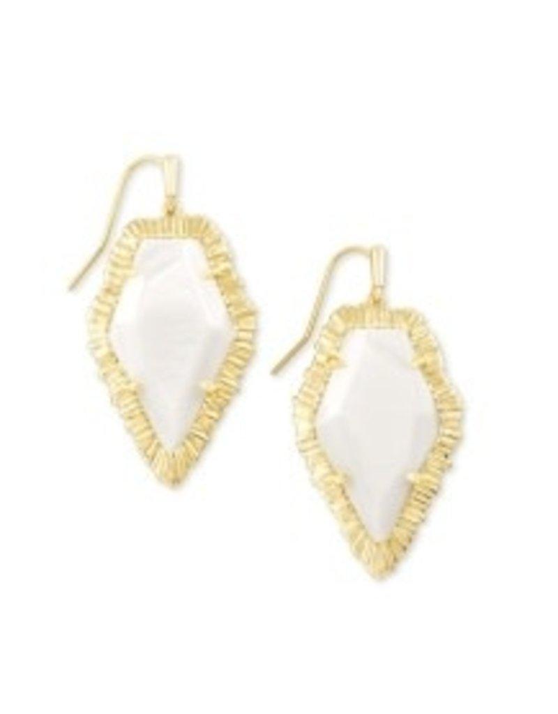 KENDRA SCOTT Tessa drop earring gold white mussel842177182161