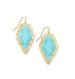 KENDRA SCOTT Tessa drop earring gold turquoise 842177182185