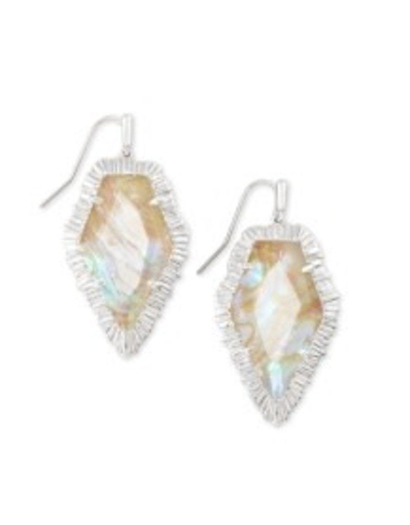 KENDRA SCOTT Tessa drop earring rhod iridescent alabaster 842177182208