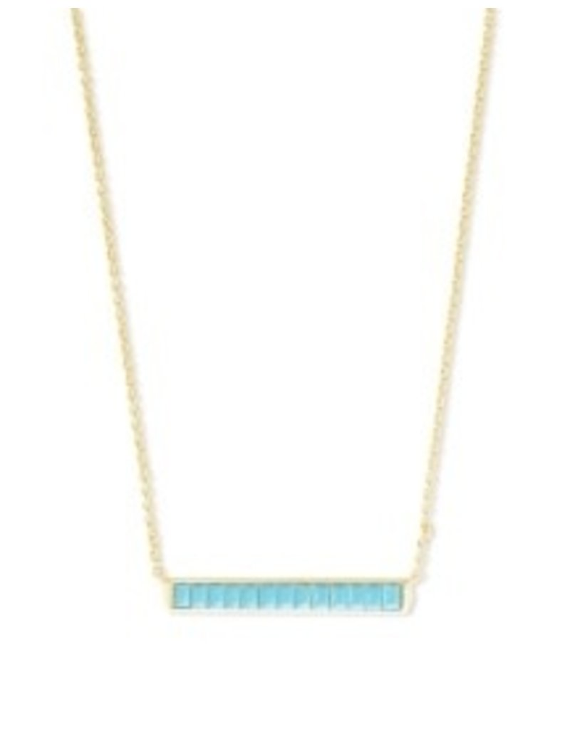 KENDRA SCOTT Jack short pendant gold turquoise 4217718253