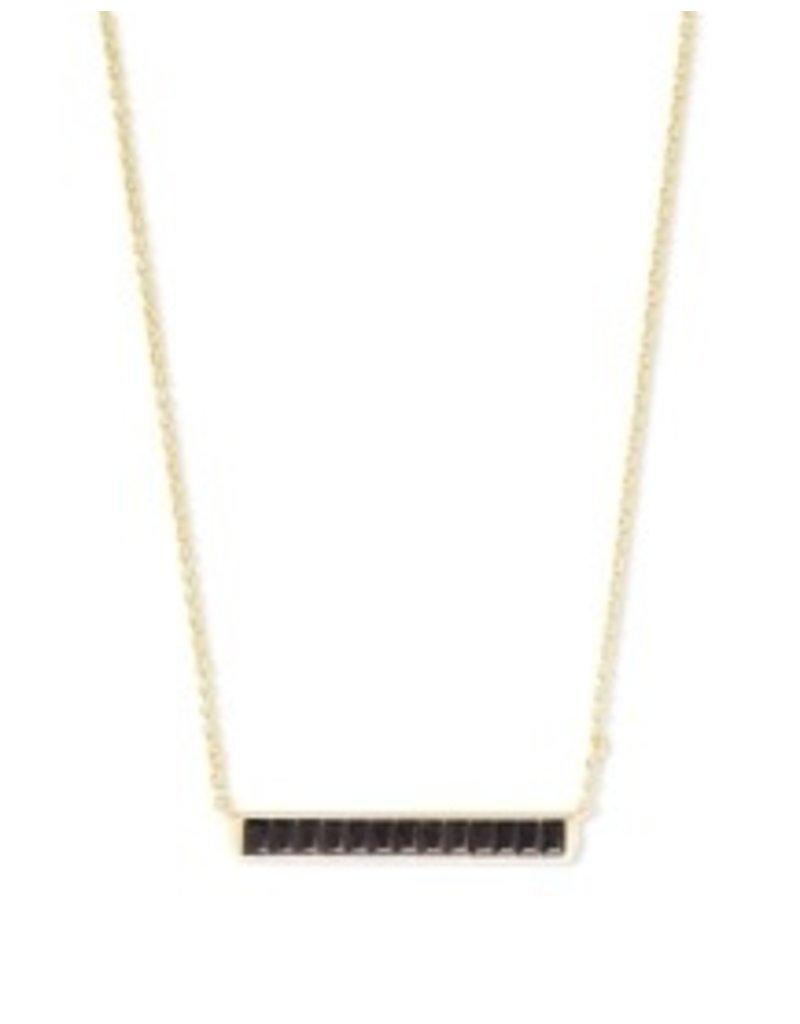 KENDRA SCOTT jack short pendant gold black spinnel 842177182543