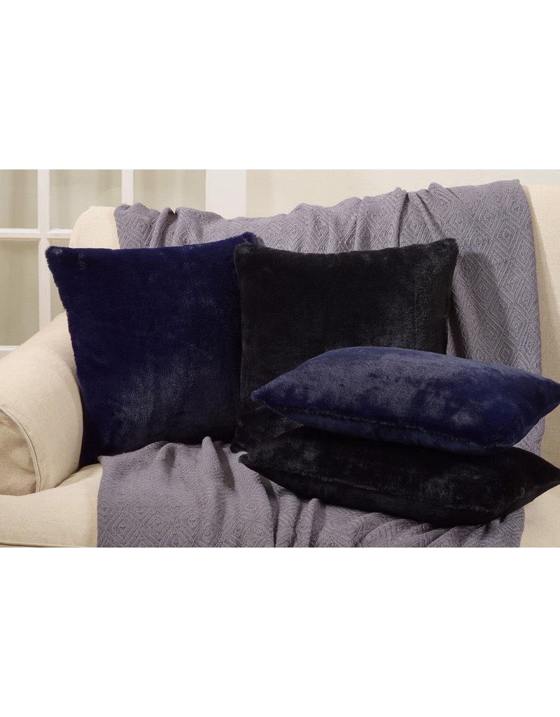 """18"""" square blue faux fur pillow 6036.bl18sp"""
