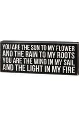 Sun to my flower box sign 108908