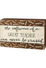 Teacher slat box sign 109254