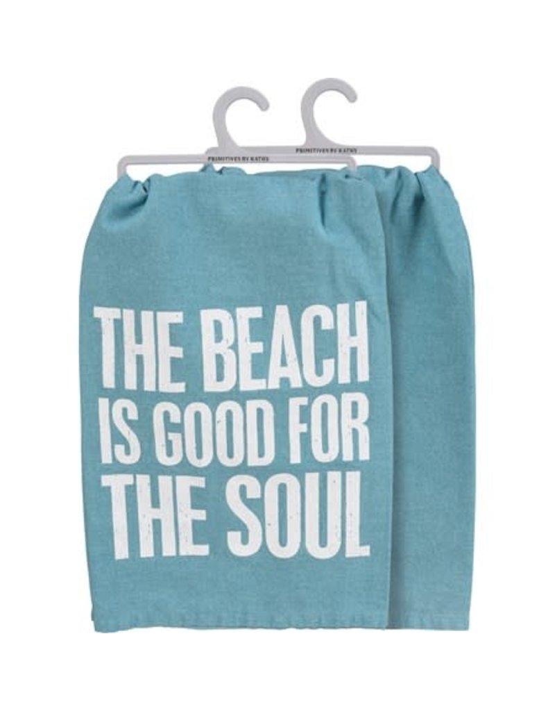Beach is good dish towel 109785