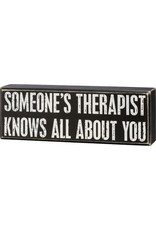 Therapist knows box sign 110383