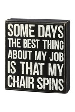 Chair spins box sign 110384