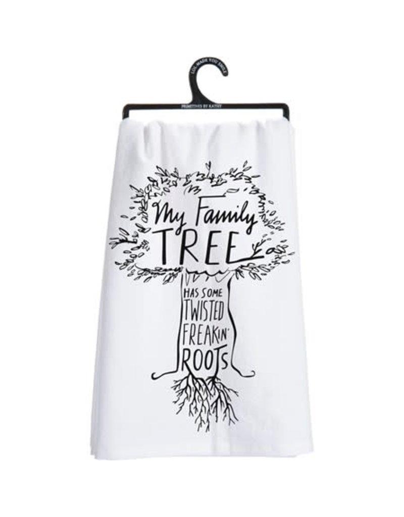 Family tree dish towel 26945