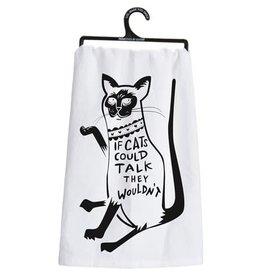 Cats could talk dish towel 26992