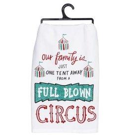 A circus dish towel 36944