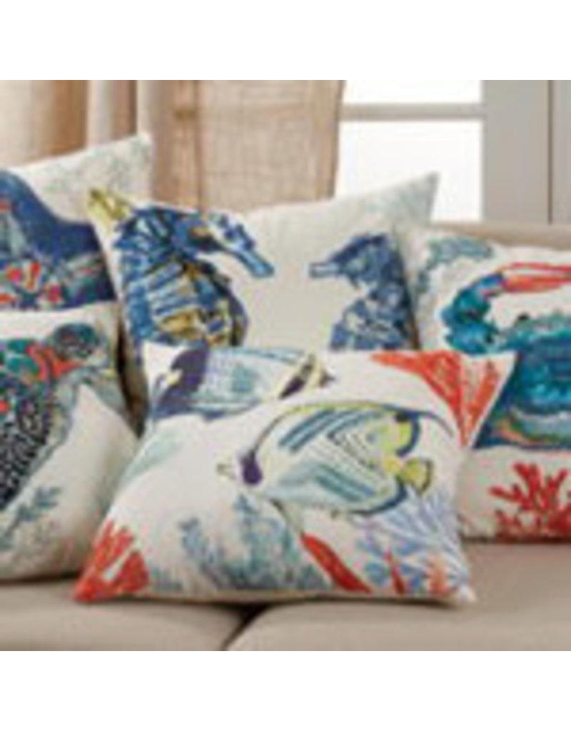 "Sea horse pillow 20"" 675m20sp"