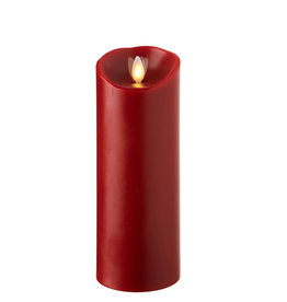 """none 3x8 """"moving flame red pillar candle 16199"""