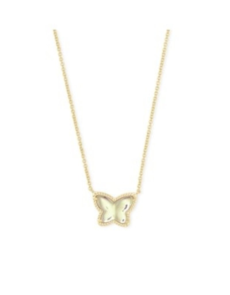 KENDRA SCOTT Lillia butterfly pendant necklace gold dich glass 4217719071