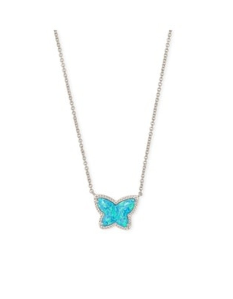KENDRA SCOTT Lillia butterfly pendant necklace rhod turquoise opal 21771907