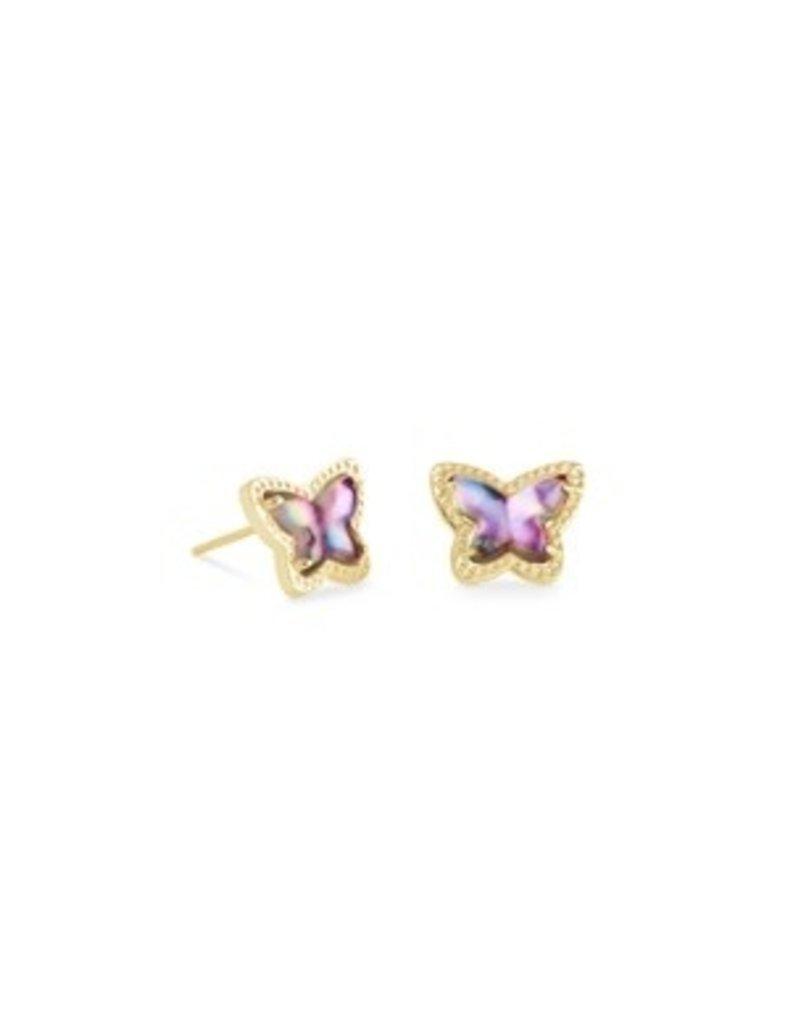 KENDRA SCOTT Lillia butterfly earring gold lilac abalone 842177190654