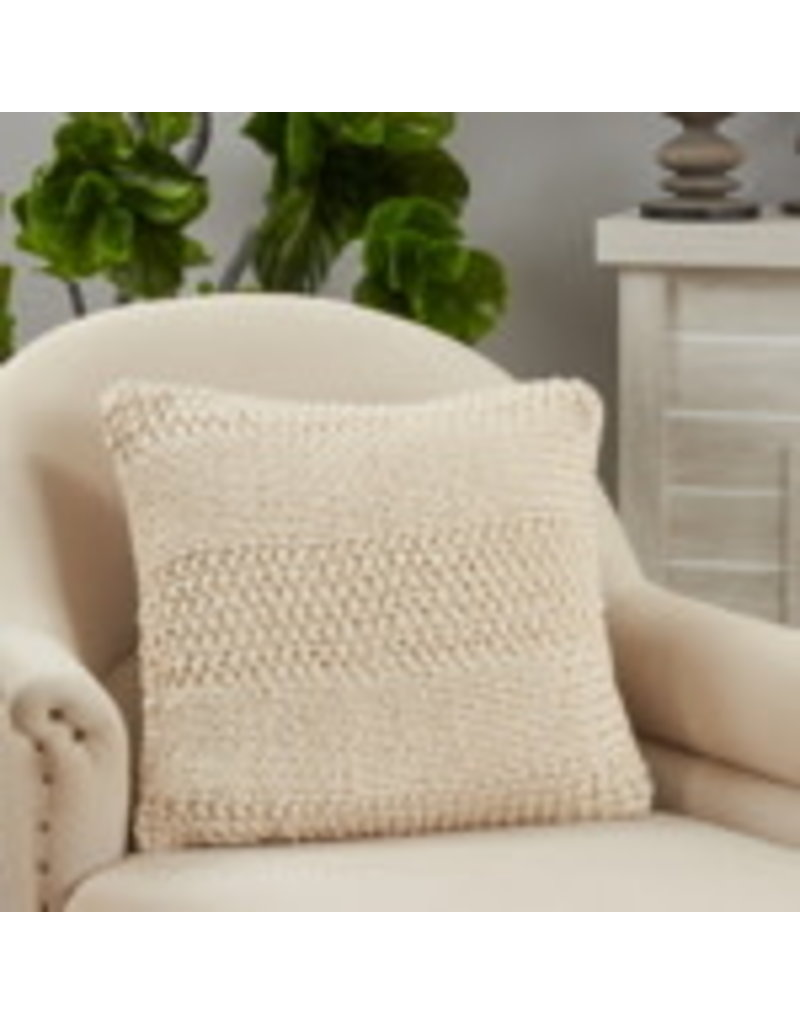 """SARO Knitted Pillow (slate) 20"""" sqaure 3577"""