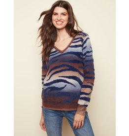 CHARLIE B Zebra space dye sweater