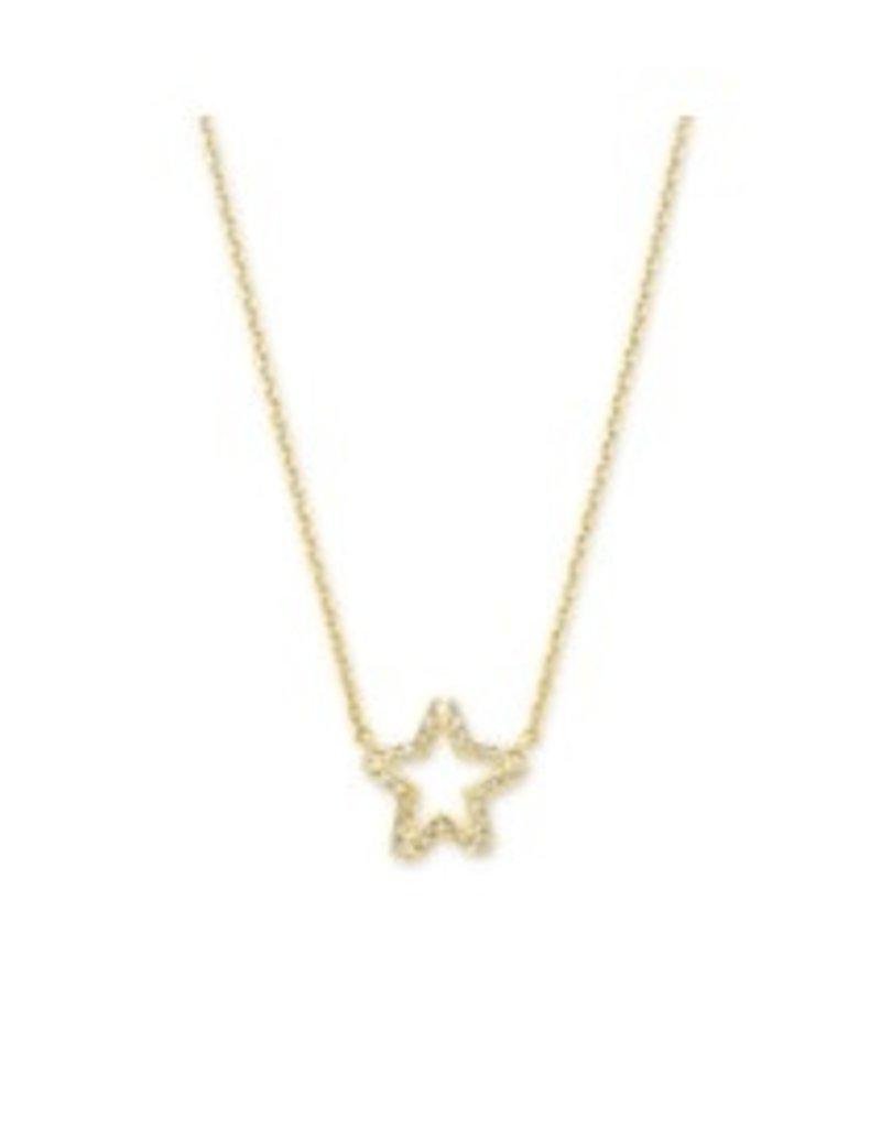 KENDRA SCOTT Jae star crystal necklace gold white crystal