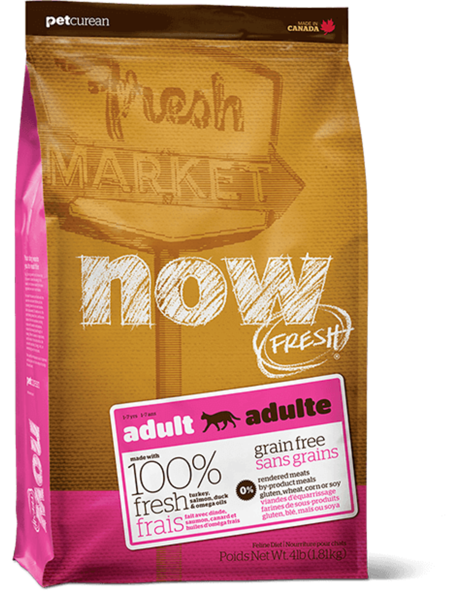 Petcurean Now: cat Adult 4lb