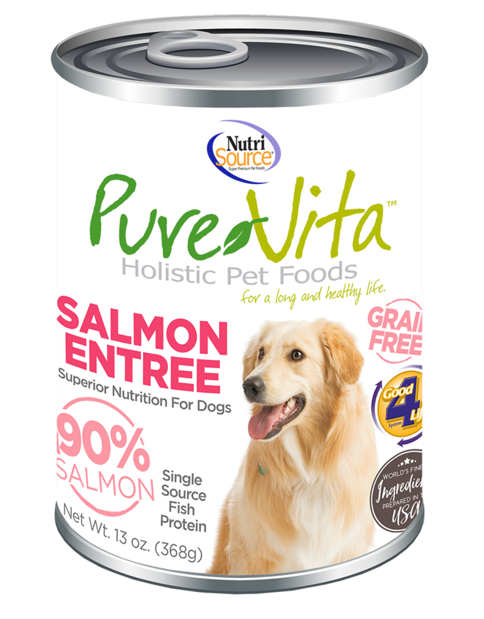 KLN PureVita: dog GF Salmon & Pea 12oz single