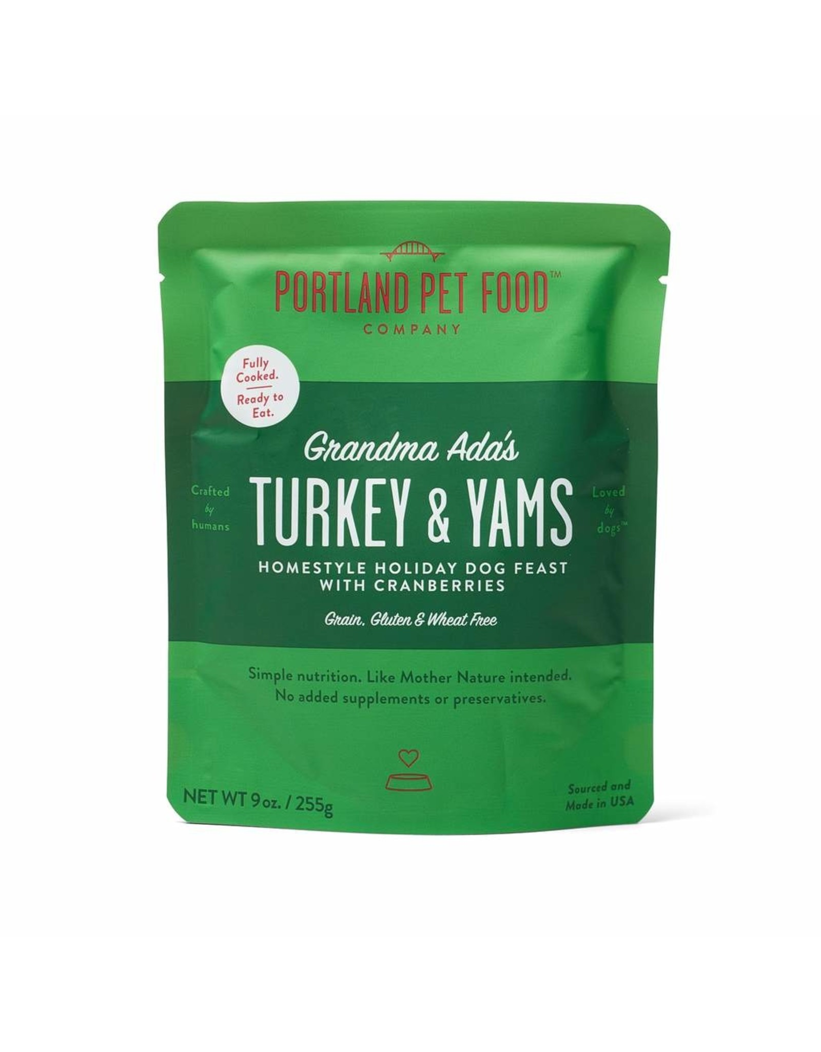 Portland Pet Food Company Portland: Grandma Ada's Turkey & Yams 9oz