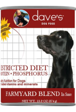 Dave's: dog Restricted Farmyard Blend 13oz single