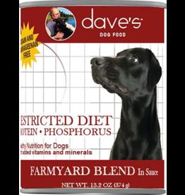 Dave's: dog Restricted Farmyard Blend 13oz single