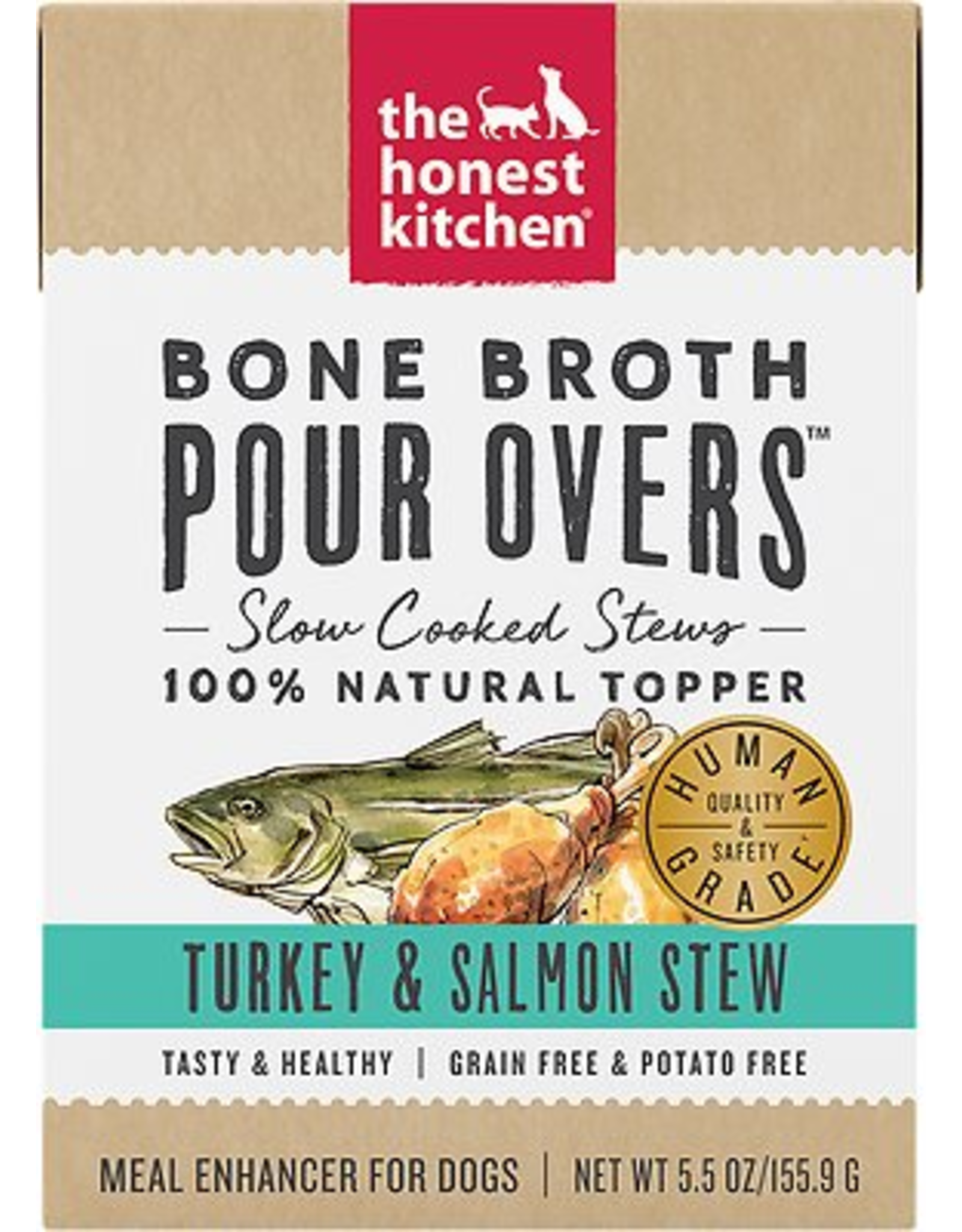 The Honest Kitchen HK: dog Turkey & Salmon Bone Broth 5.5oz single