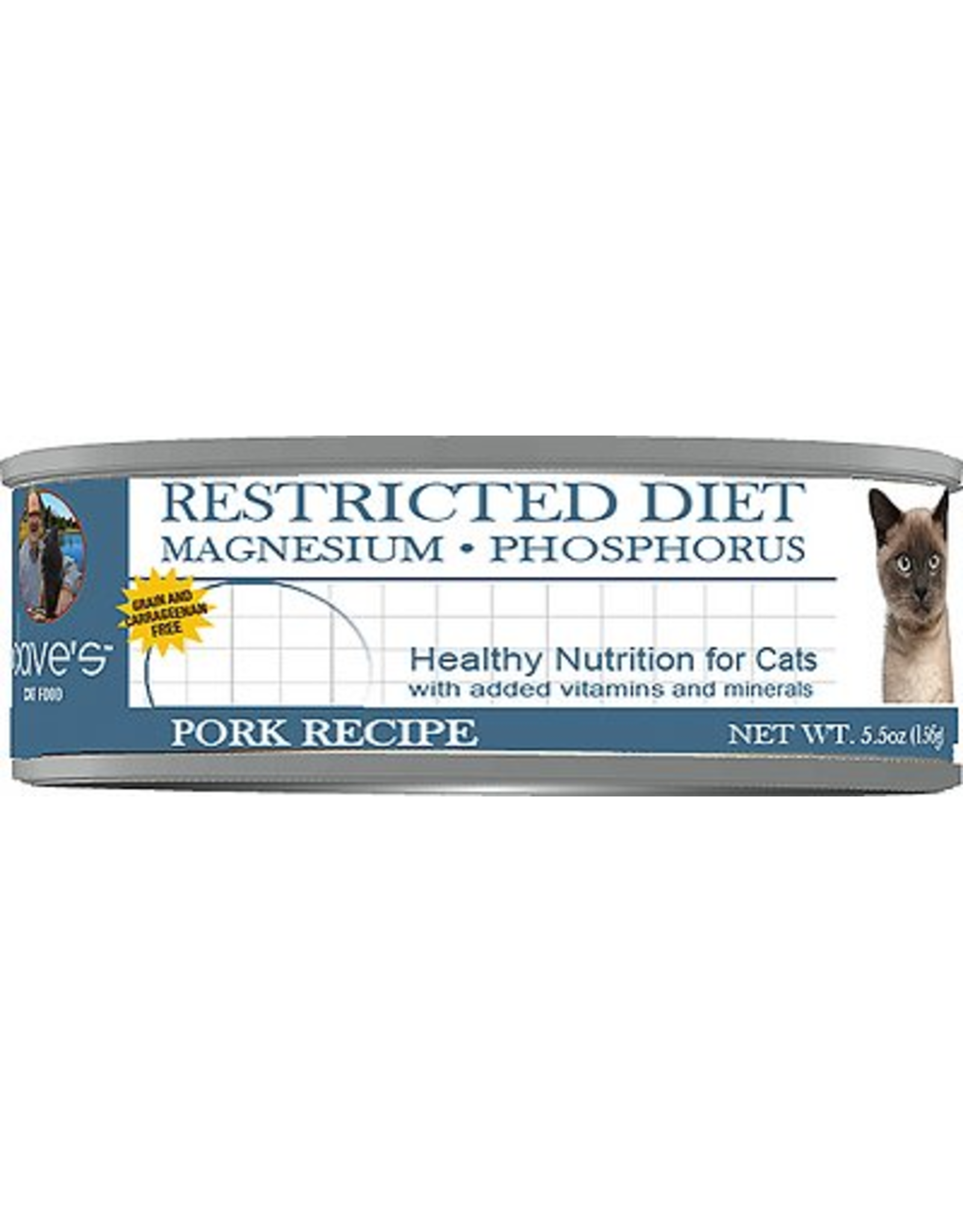 Dave: cat Restricted Magnesium Phosphorus Pork 5.5oz
