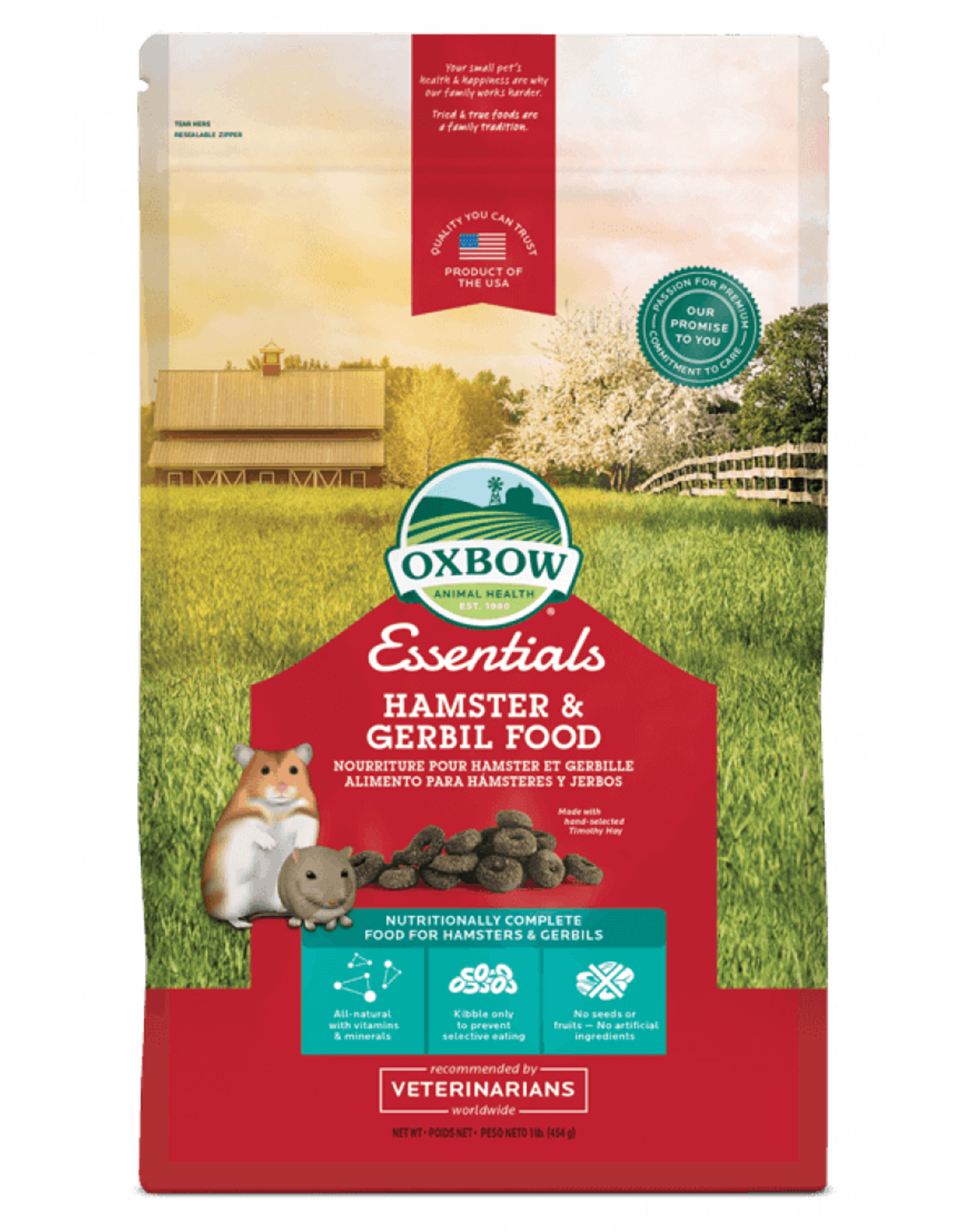 Oxbow Pet Products Oxbow: Hamster & Gerbil 1lb