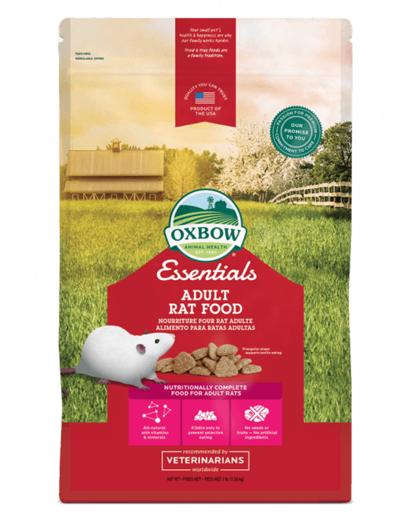 Oxbow Pet Products Oxbow: Adult Rat 3lb