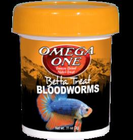 Omega: Betta Treat Bloodworm .11z