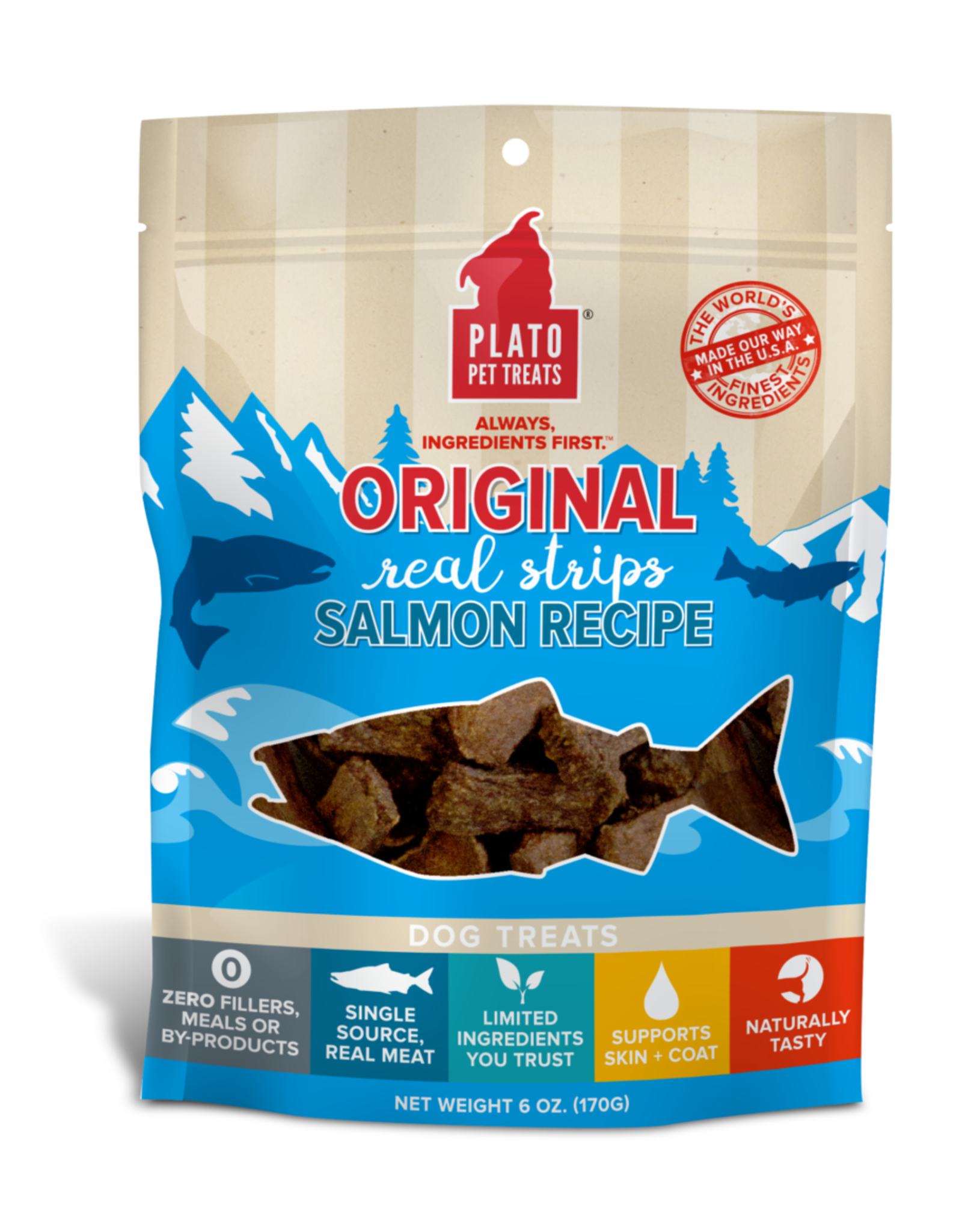 Plato: Salmon Strips 18oz