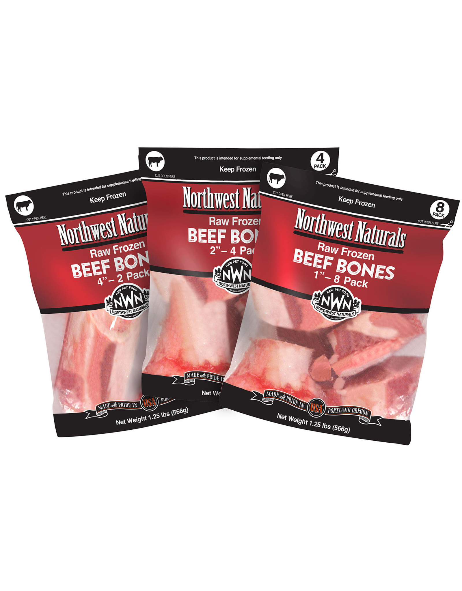 "Northwest Naturals NWN: RAW Beef Bones 8pk 1"""