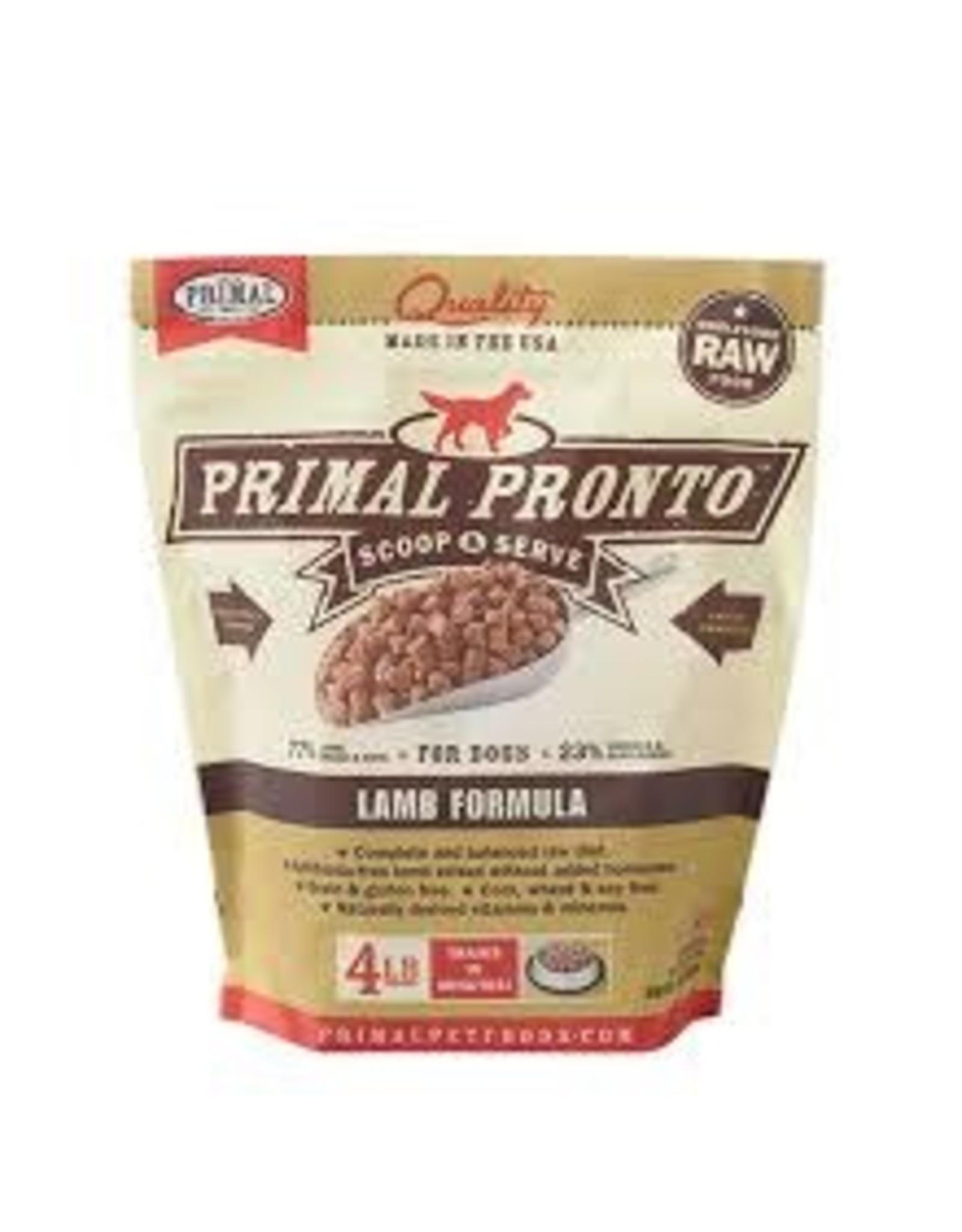 Primal Primal: dog RAW Pronto Lamb 4lb