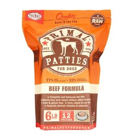 Primal Primal: dog RAW Beef Patties 6lb