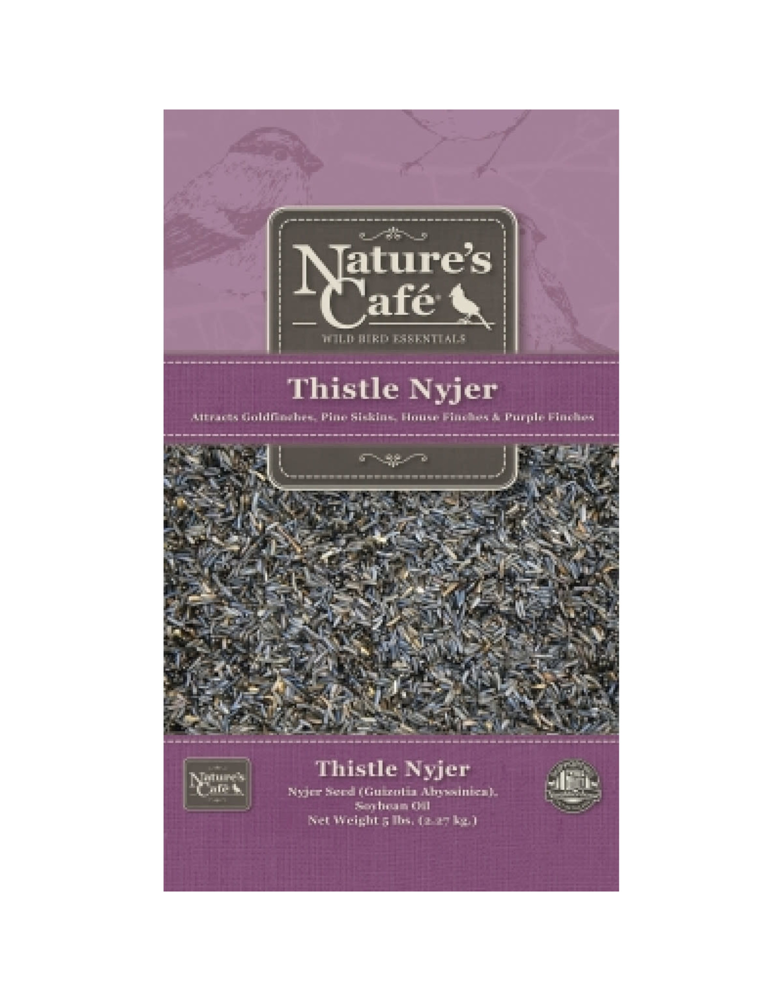 Nature's Cafe: Seed Nyjer Thistle 20lb