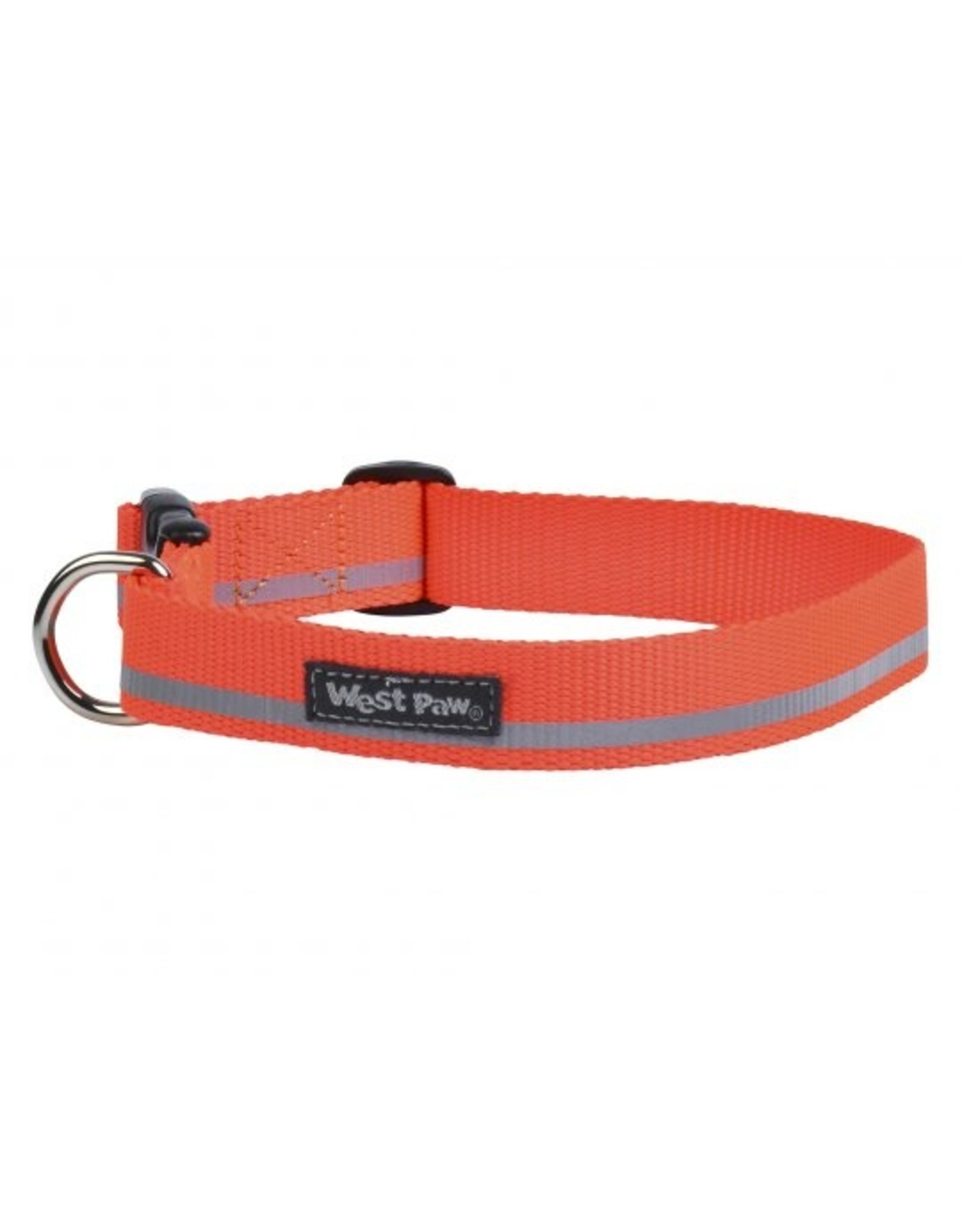 West Paw Designs Westpaw: Strolls Collar Small Neon Orange Reflective