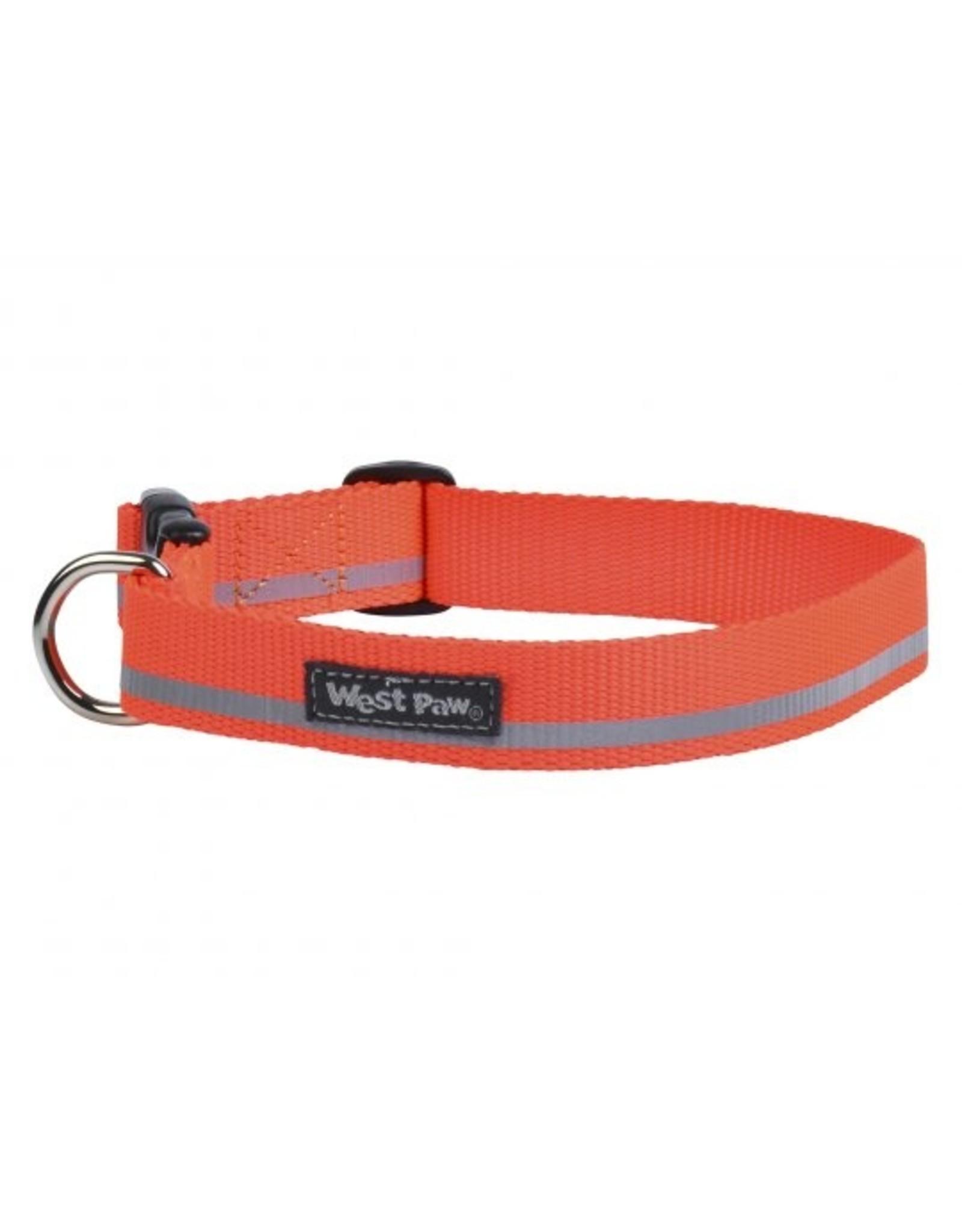 West Paw Designs Westpaw: Strolls Collar Large Neon Orange Reflective