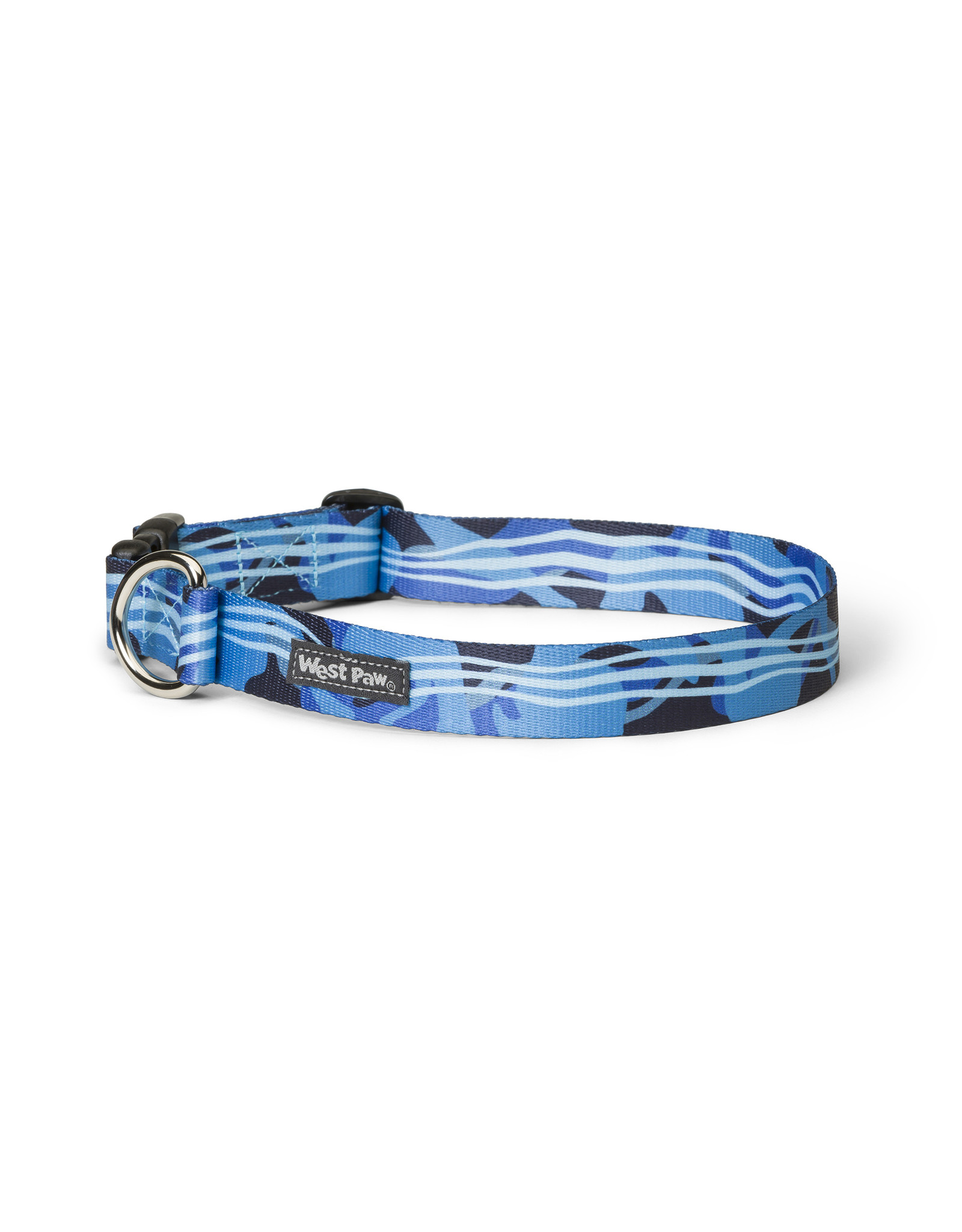 West Paw Designs Westpaw: Outings™ Collar Medium Blue Groove