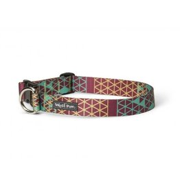 West Paw Designs Westpaw: Outings™ Collar Large Grid Mocha