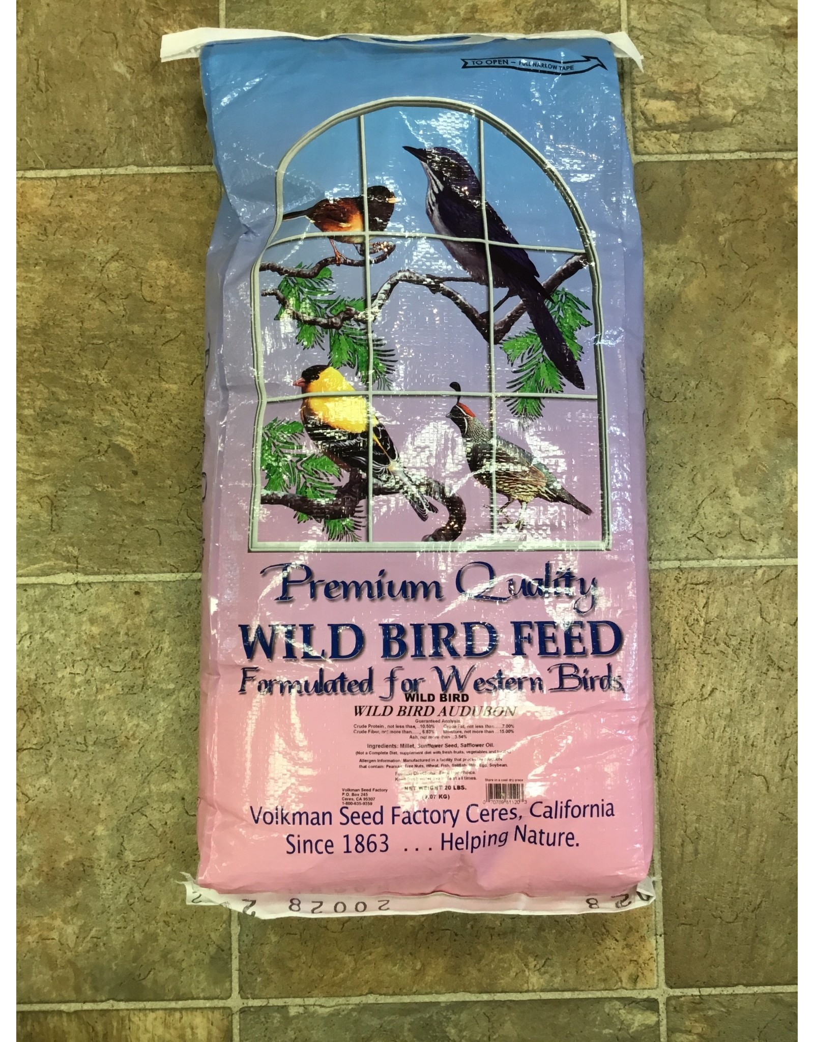 Volkman: Wild Bird Audubon 20lb