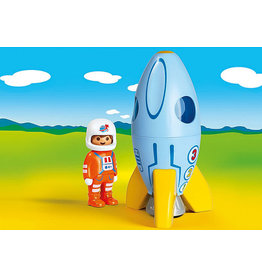 Playmobil 1.2.3 Astronaut with Rocket