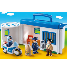Playmobil 1.2.3 Take Along Police Station