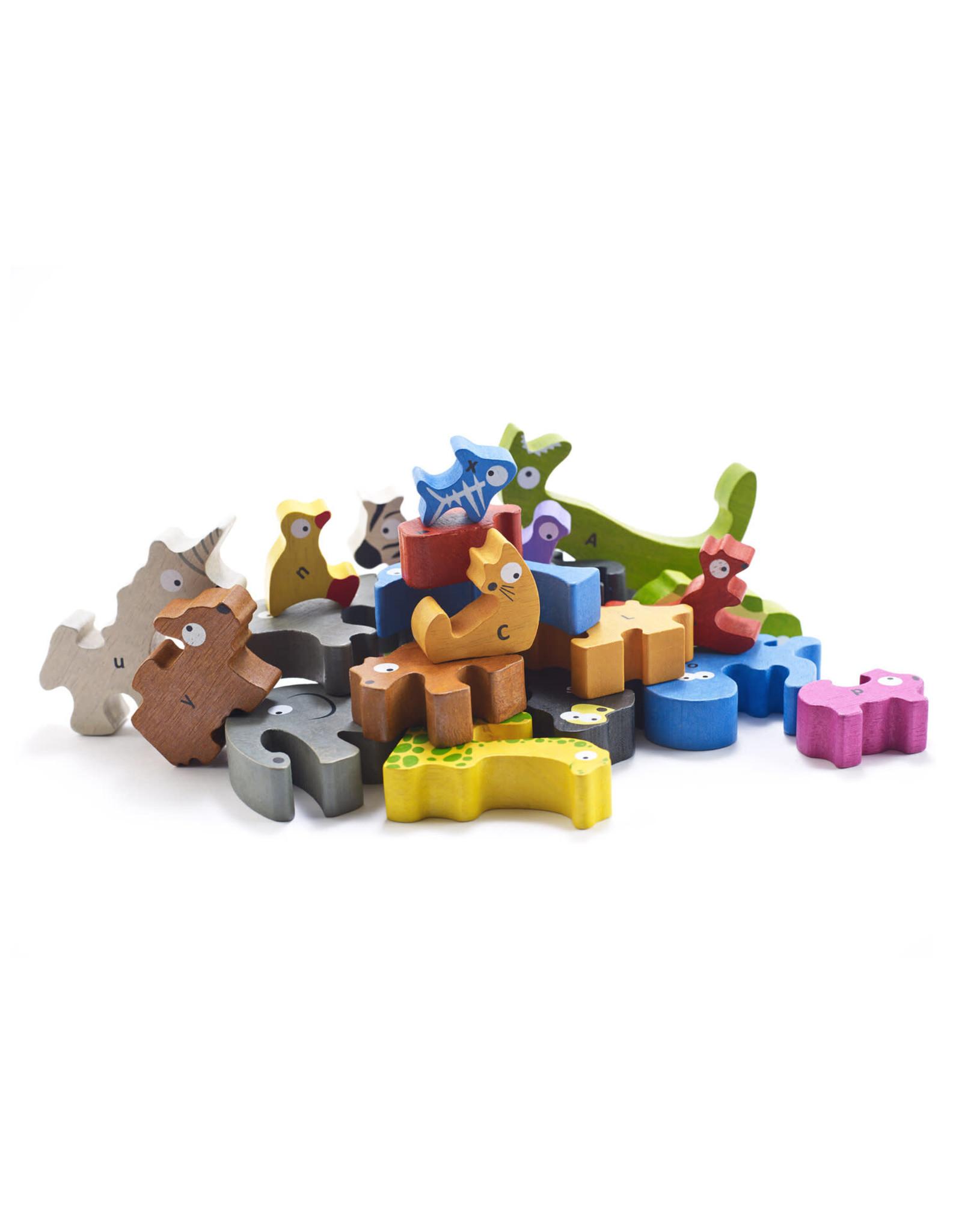 Begin Again 26 pcs. Animal Parade A to Z Puzzle & Playset, Jumbo