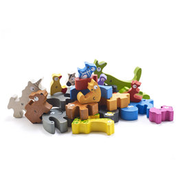 Begin Again 26 pcs. Animal Parade A to Z Puzzle & Playset, Jumbo