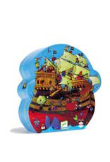 Djeco 54 pcs. Silhouette Puzzle, Barbarossa's Boat