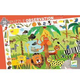 Djeco 35 pcs. Observation Puzzle, Jungle